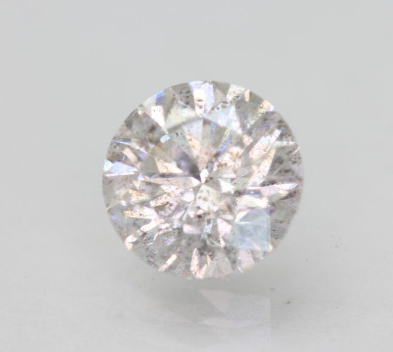 Certified 1.75 Carat G SI2 Round Brilliant Enhanced Natural Diamond 7.59mm 3VG