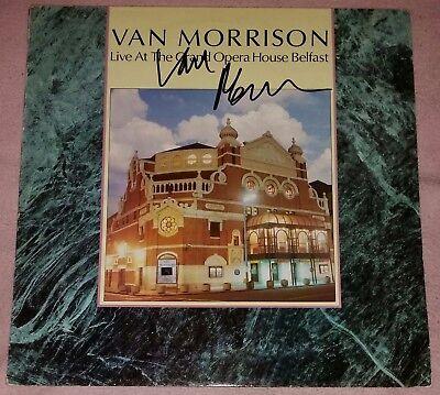 "VAN MORRISON AUTOGRAPH HAND SIGNED LP 12"" VINYL RECORD LIVE AT GRAND OPERA HOUSE"