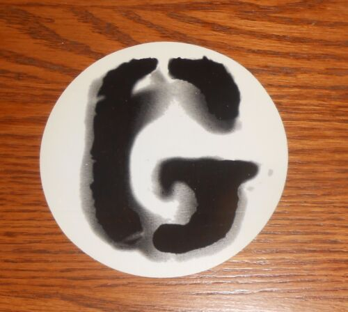 Garbage Sticker Circle 1995 Promo RARE 4""