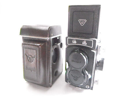 Vintage Shanghai Seagull Camera Twin Lens Reflex with Case and Carry Strap