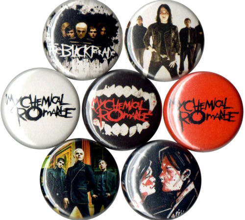 My Chemical Romance 7 pins buttons badges 2000s emo three cheers black parade