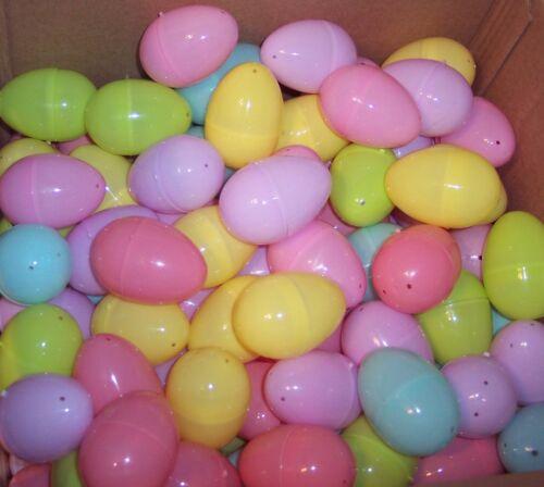 New 50 Multi Color Plastic Eggs Easter NWOT