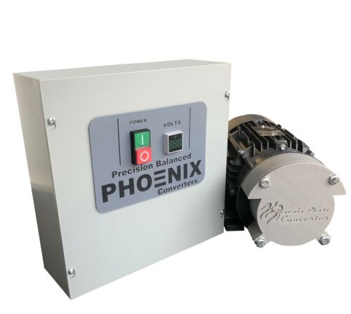 3 HP Rotary Phase Converter! - TEFC, Voltage Display, Industrial Grade - GP3PLV