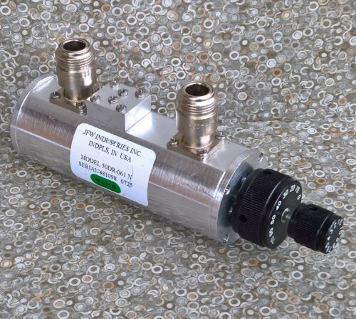 JFW 50DR-061 Manually Variable Dual Rotary Step Attenuator 50 Ohms 2200 MHz 80dB