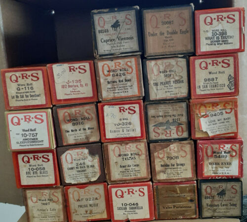 24 QRS Player Piano Rolls.  FREE SHIP!