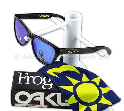 OAKLEY Kids Youth Frogskins XS Valentino Rossi VR46 Black Frame, Prizm Sapphire