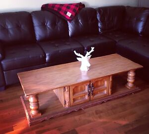 Vintage coffee table with storage in center section Kingston Kingston Area image 2