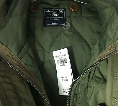 NWT Abercrombie & Fitch Men's  2-In-1 Lightweight Jacket Olive Reg $160 Size XL