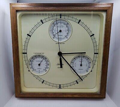 Vintage SUNBEAM Quartz Clock Thermometer Barometer Weather Station
