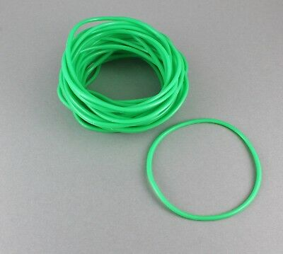 Green set pack lot of 30 jelly rubber gummy bangle bracelet 80s - 80s Jelly Bracelets