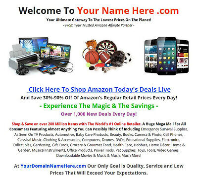 Amazon Affiliate Website Business For Sale - Fully Stocked - Millions Of Items