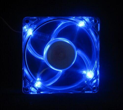 80mm 25mm Case Cabinet Fan Kit 110 115 120 VAC 24CFM Sleeve Blue LED 8025 1477*