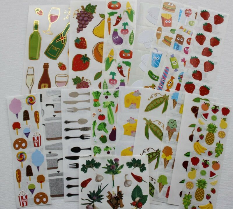 Mrs. Grossman sticker sheet You Choose - Food Kitchen Cooking Eating Utensils