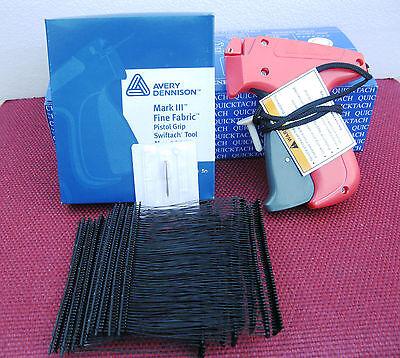 10312 Avery Dennison Fine Fabric Price Tagging Gun 5000 3 Black Barbs