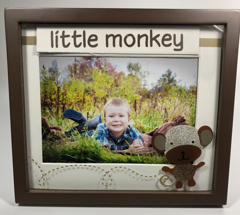Tiny Miracles Little Bambino Monkey Picture Frame Unisex Baby Shower Gift