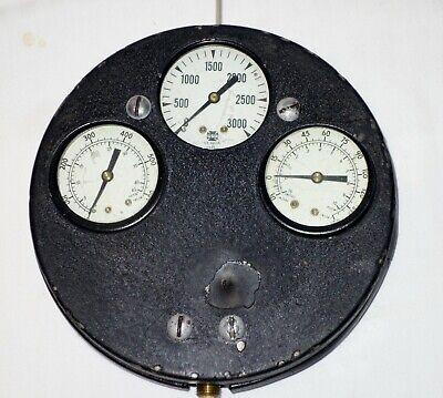 Vintage Schroeder Gauge For Industrial Steam Pump Display