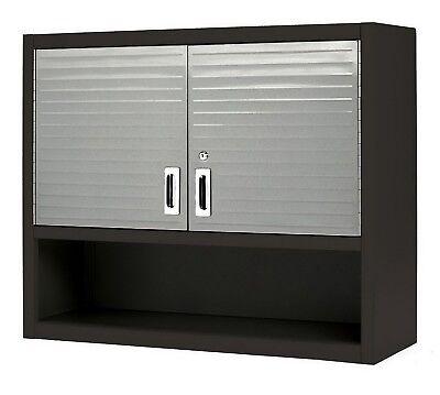 Metal Locking Breastwork Cabinet Tool Shop Garage Storage Shelf Red Heavy-Duty Fortify