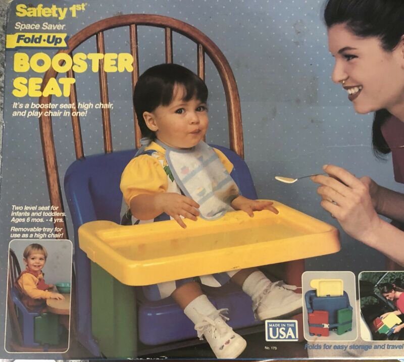 Safety First 1st Compact Fold Up Booster Seat W/ Box & Instructions Vintage