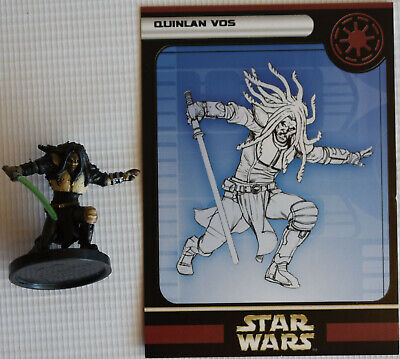 Star Wars Miniatures Quinlan Vos 24/60 2004 With Card!