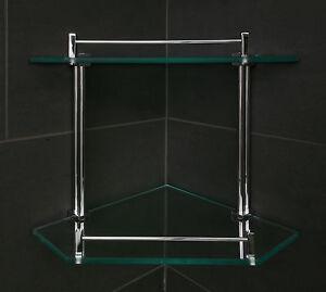 Glass Corner Shelf Home Furniture DIY EBay