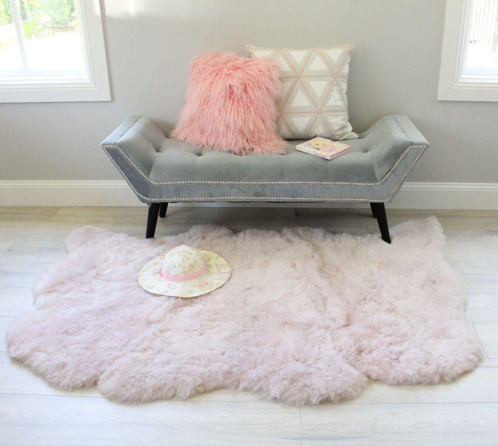 Pink Nursery Rug Icelandic Sheepskin