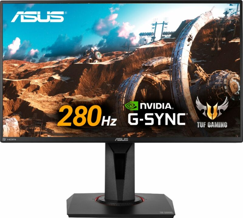 ASUS - TUF Gaming VG259QMY 280Hz 24.5Fast IPS LCD FHD 1ms G-SYNC Compatibl...