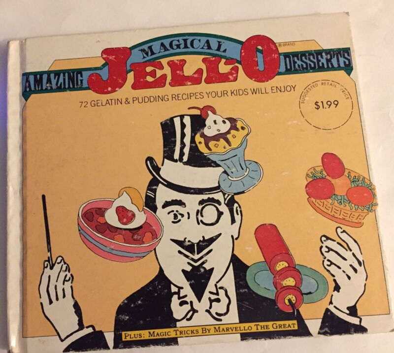 Amazing Magical Jell-O Desserts Vintage Recipe Book