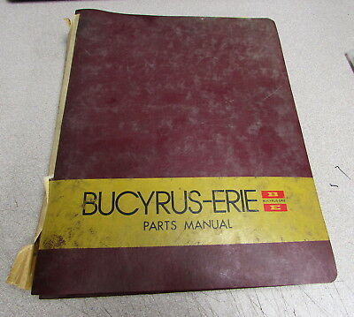 Bucyrus-erie Model 25b Parts Catalog Manual