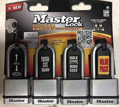 Master Lock Co Magnum Keyed Padlocks 4 Pack