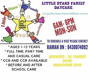 LITTLE STARS Family Daycare Forbes road Marayong 2148 Marayong Blacktown Area Preview