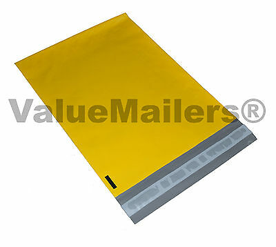 50 12x15.5 Yellow Poly Mailers Shipping Envelopes Couture Boutique Quality Bags