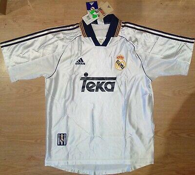 Camiseta Real Madrid 1999-2000 Nueva Adidas Shirt New BNWT Trikot Maillot Maglia