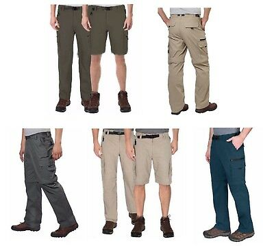 BC Clothing Men's Convertible Stretch Cargo Hiking Pants Shorts,Zippered Pockets