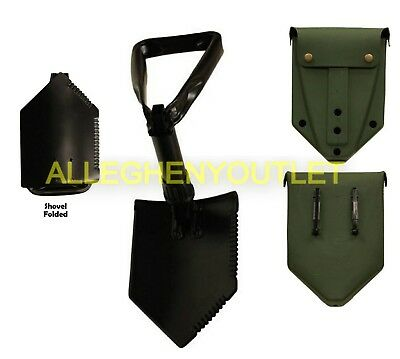 - MINT Military AMES Entrenching Tool Shovel & USED E-Tool Cover w/ ALICE Clips