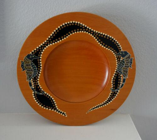 Aboriginal artist Mick Quilliam/Palawa/Australia/Huon Pine Painted bowl