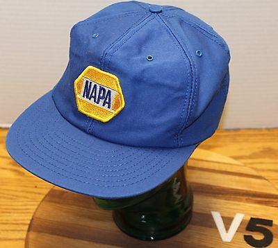 Vintage Usa Made Napa Auto Parts Hat Blue Snapback Good Condition