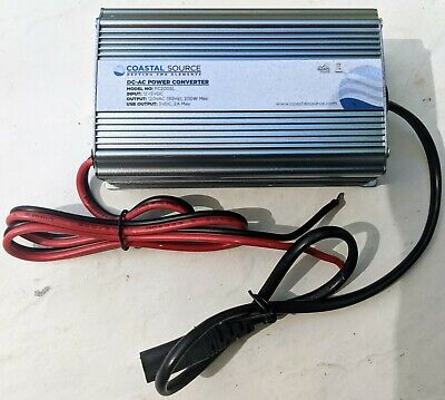 Coastal 200W 12V DC to 120V AC Inverter