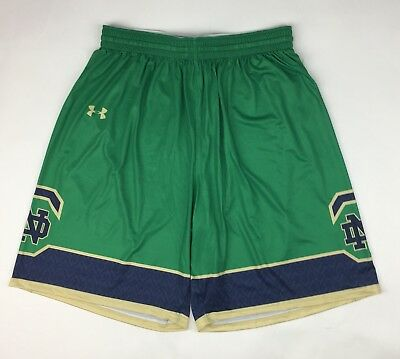Gametime Basketball Shorts (New Under Armour Notre Dame Basketball Gametime Short Men's L Green Gold )