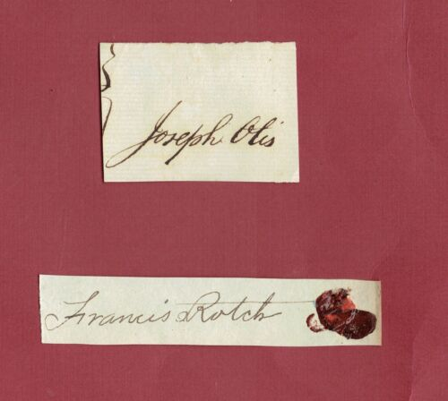 (2) TWO REVOLUTIONARY WAR PATRIOT AUTOGRAPHS-CUT SIGNATURES (SEE PHOTO)