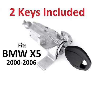For BMW X5 E53 2000-2006 LEFT DRIVER DOOR LOCK CYLINDER BARREL ASSEMBLY w 2 KEYS