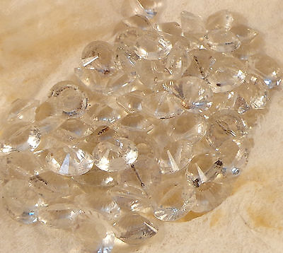 120 vintage sew-on faceted glass stones buttons rhinestone beads 14mm crystal