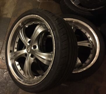 """X4 19"""" deep dish Holden wheels with good tyres!!!! Melton South Melton Area Preview"""