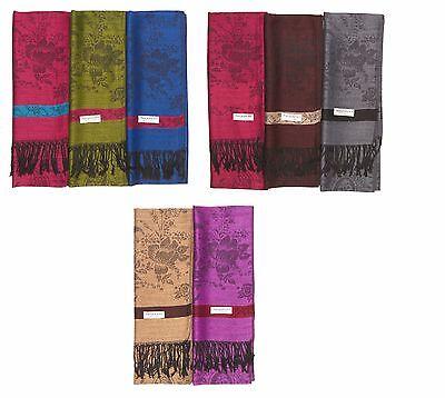 Wholesale LOT of 12 NEW Soft Silk PASHMINA Silk Shawl Scarf Stole Wrap Women