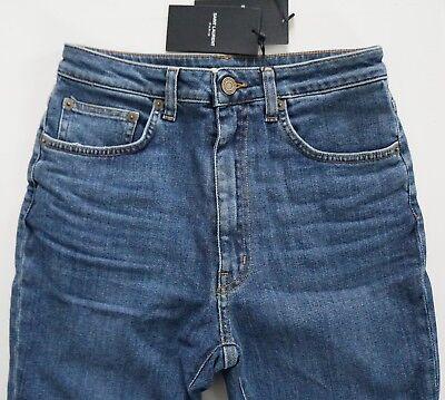 NWT SAINT LAURENT Paris Blue HIGH WAIST SLIM SKINNY Fit Jeans 28 D04 W/SK-HW