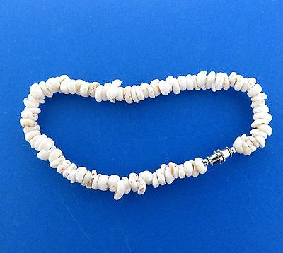 "Genuine Puka Shell Bracelet Anklet 8mm 9"" #2"