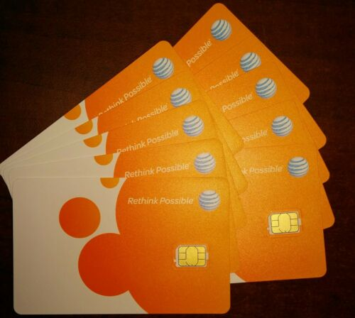 AT&T NANO 4FF SIM Card • GSM 4GLTE • NEW Genuine OEM • Prepaid or Contract