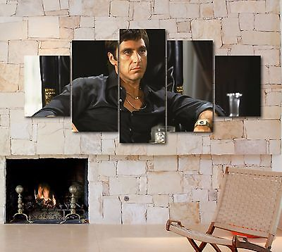 Large 5 Piece Scarface Al Pacino Photo On Canvas Print Home Decor Art Wall