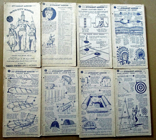 1950 STRAIGHT ARROW INJUN-UITY Cards ~ Book 2 ~ SET of 26 by Nabisco Cereal