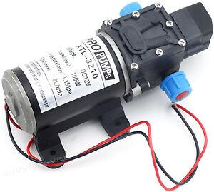 DC 12V 160PSI Membranpumpe Wasserpumpe Automatische Druckpumpe Pumpe 8L/Min 100w