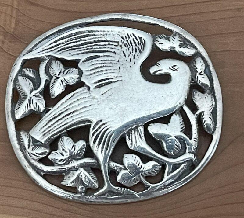 Sterling Silver Brooch Peace Dove Bird Kristian Mohl-Hansen Georg Jensen Style
